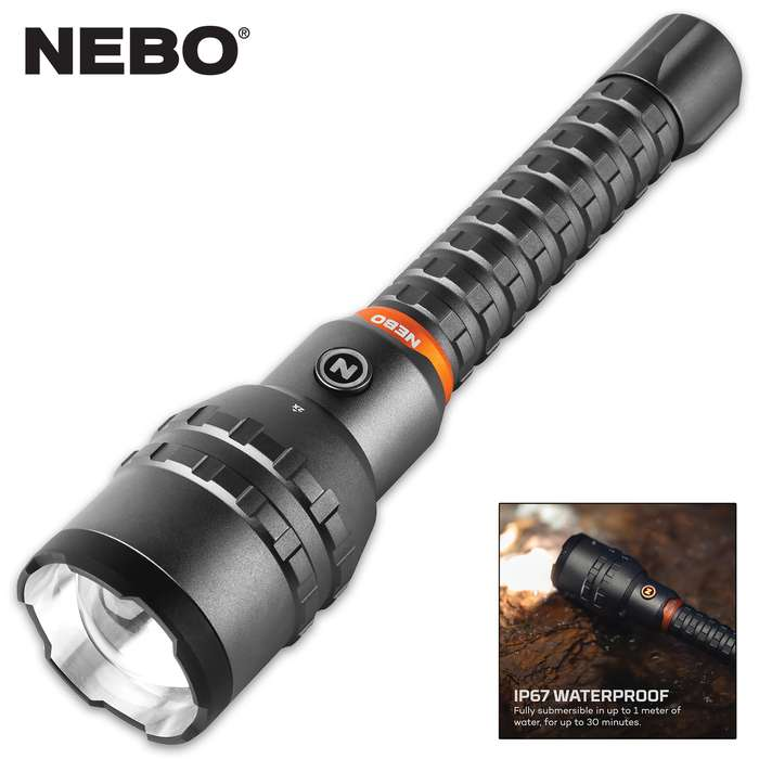 """The flashlight weighs-in at 2 lbs, is 11"""" in overall length with a 1 3/4"""" diameter barrel and it features a lanyard"""