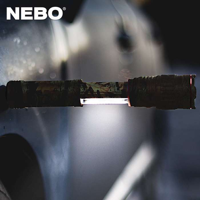 The Nebo Slyde Plus Camo Flashlight is a perfect light to keep around the house in case of emergencies