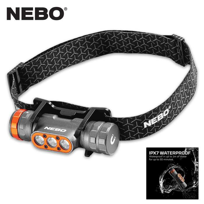 This a powerful, USB-C rechargeable headlamp that features a 1,500-lumen Turbo Mode to give you short bursts of power