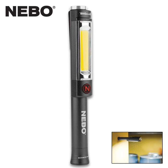 The NEBO Big Larry 2 Storm Grey Flashlight combines a powerful COB work light with powerful LED flashlight, giving you a very versatile lighting tool
