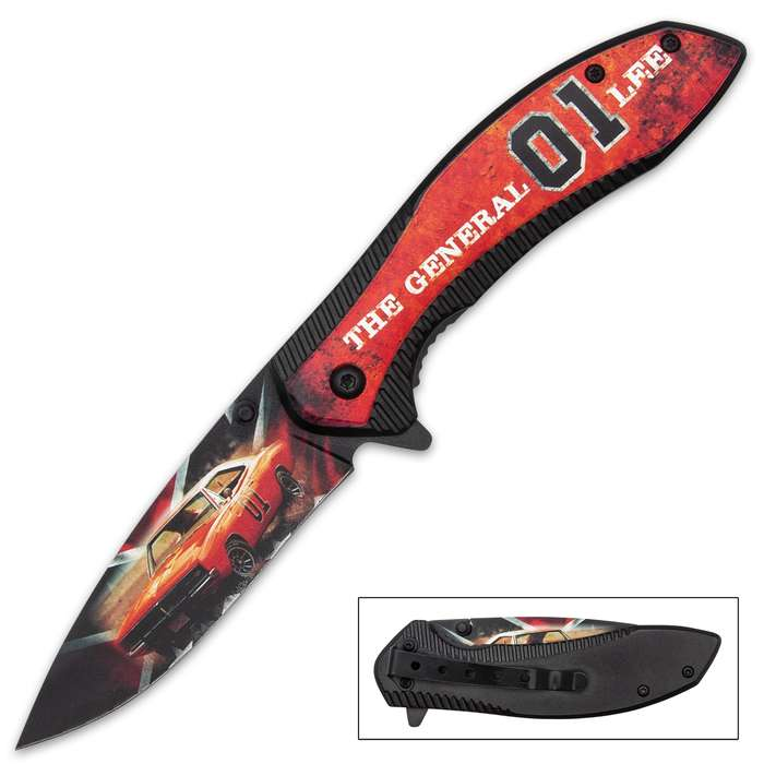 If you're a fan on the iconic television series, then you need this striking assisted opening General Lee pocket knife