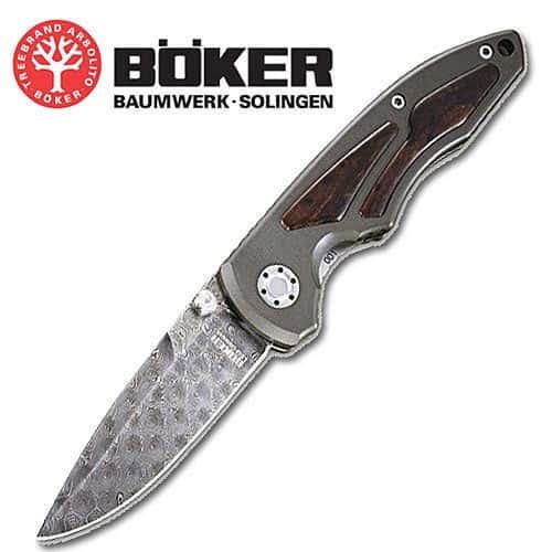 Boker LEO Damascus Folding Knife