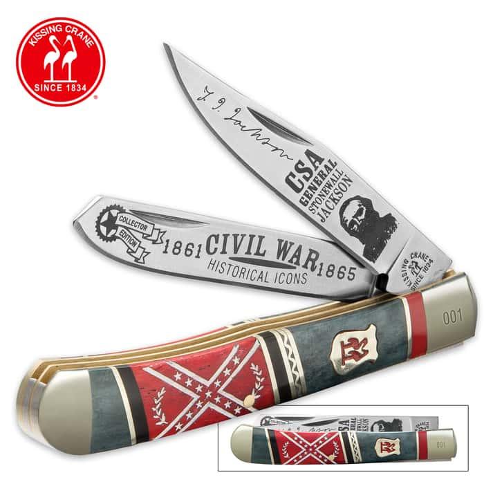 Kissing Crane Stonewall Jackson Trapper Pocket Knife