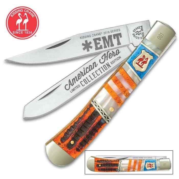 Kissing Crane EMT Trapper Pocket Knife