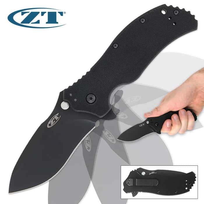 Zero Tolerance 0350 G-10 Folding Pocket Knife Black Assisted Opening
