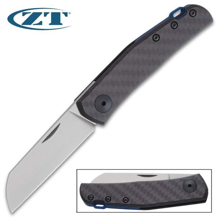 Minimalist design meets maximum performance in the Zero Tolerance Anzo Black Pocket Knife, designed by Danish knife designer Jens Anso
