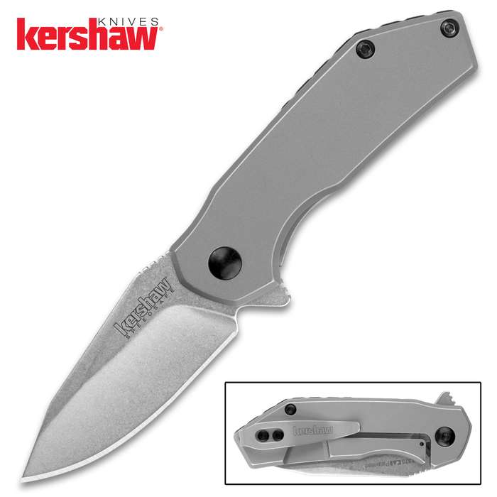 Mid-sized, all-steel, and incredibly useful, the Kershaw Valve Pocket Knife will be your new go-to every day carry