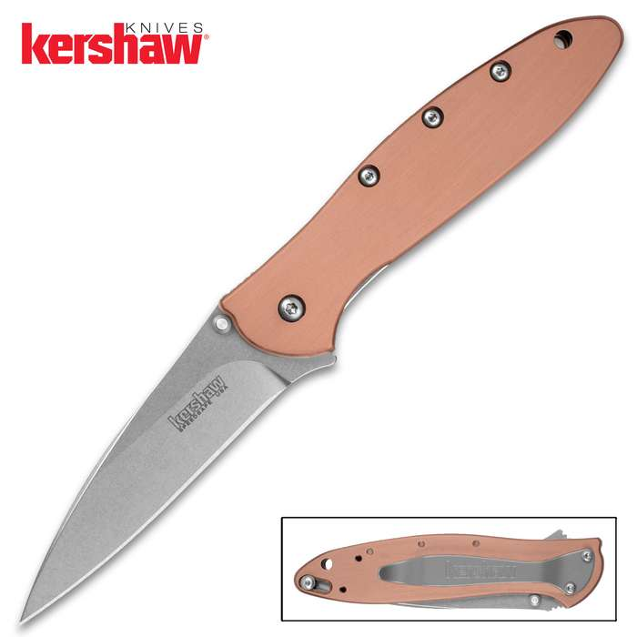 The popular Kershaw Leek Pocket Knife gets a next level upgrade with CPM 154 blade steel and genuine copper handle scales