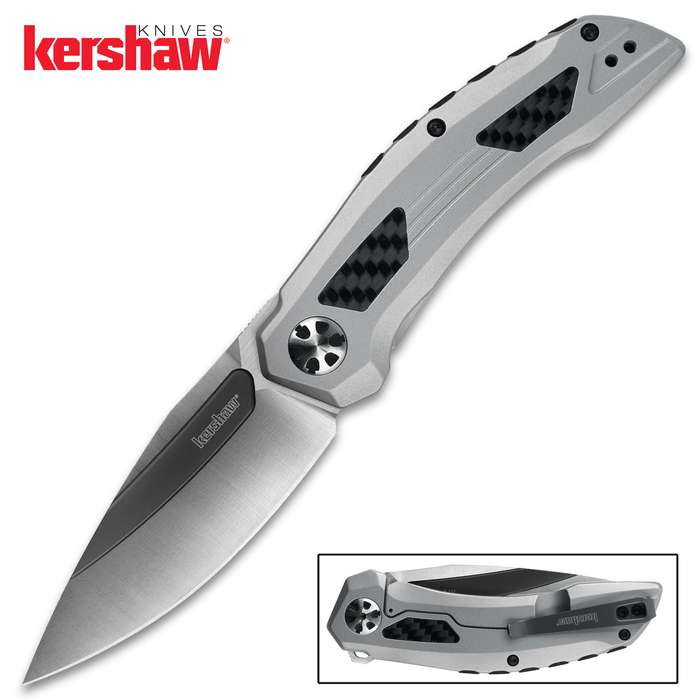 Inspired by the lines of aerospace design, the Kershaw Norad Pocket Knife has landed