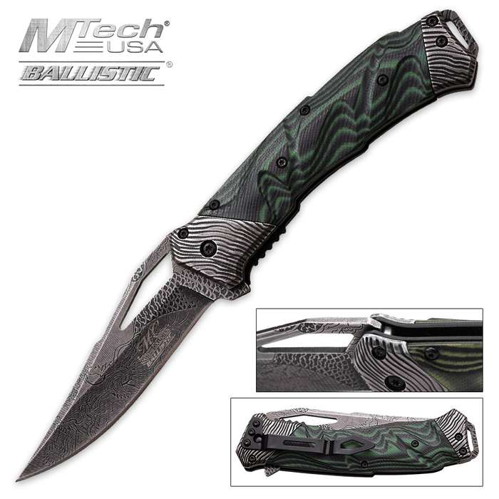 Master Collection Acid Etched Dragon Knife