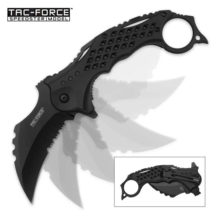 Tac Force NightClaw Assisted Opening Folding Karambit - Matte Black