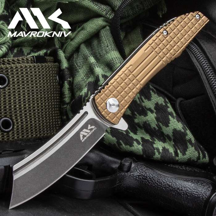 With its cutting edge ball bearing opening mechanism and premium steel blade, this knife can take and give a beating