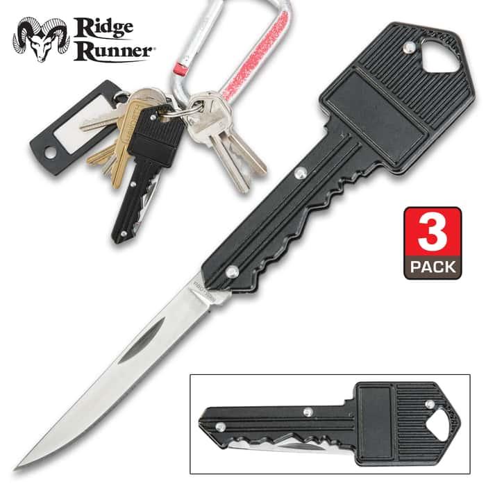 Ridge Runner Key Pocket Knife - Three Pack