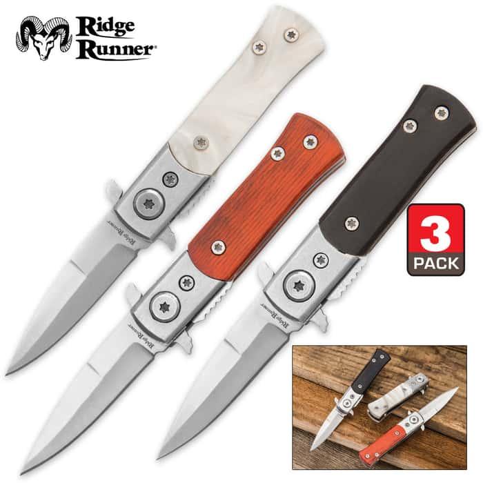 Three-Pack Mini Pocket Knives