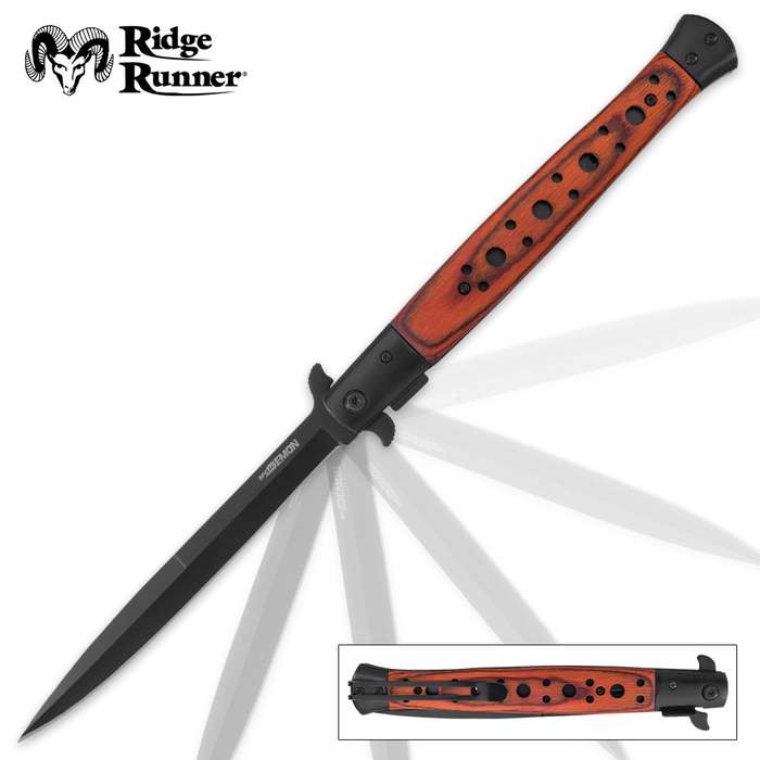 Ridge Runner Speed Demon Brown Stiletto Knife