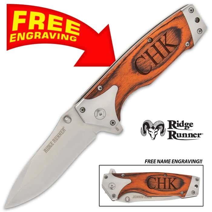Ridge runner galileo pocket knife open