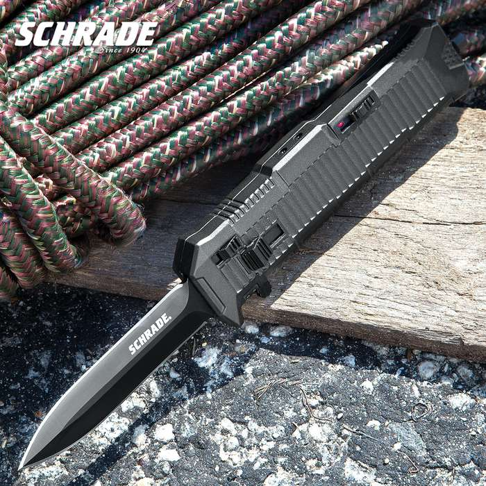 Schrade Viper OTF Assisted Opening Pocket Knife Spear Point