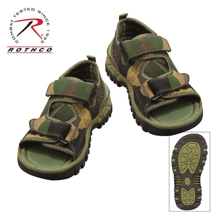 Hiking Sandals Woodland Camo