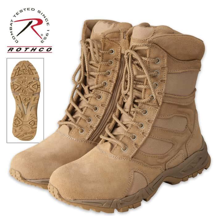 G.I. Type Desert Tan 8 Inch Side Zipper Tactical Boot