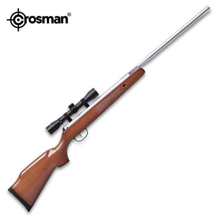 Remington Model Break Barrel Air Rifle With 4x32 Scope - Rifled Steel Barrel, Hardwood Stock, Dovetail Mounting Rail