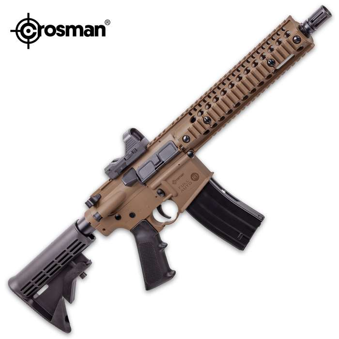 The Crosman Full-Auto R1 CO2 BB Air Rifle maximizes backyard fun and you'll have target cans flying in no time