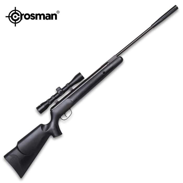 Crosman Benjamin Prowler Air Rifle With Scope - Nitro Piston, .22 Caliber, 950 FPS, Rifled Break Barrel, Synthetic Stock