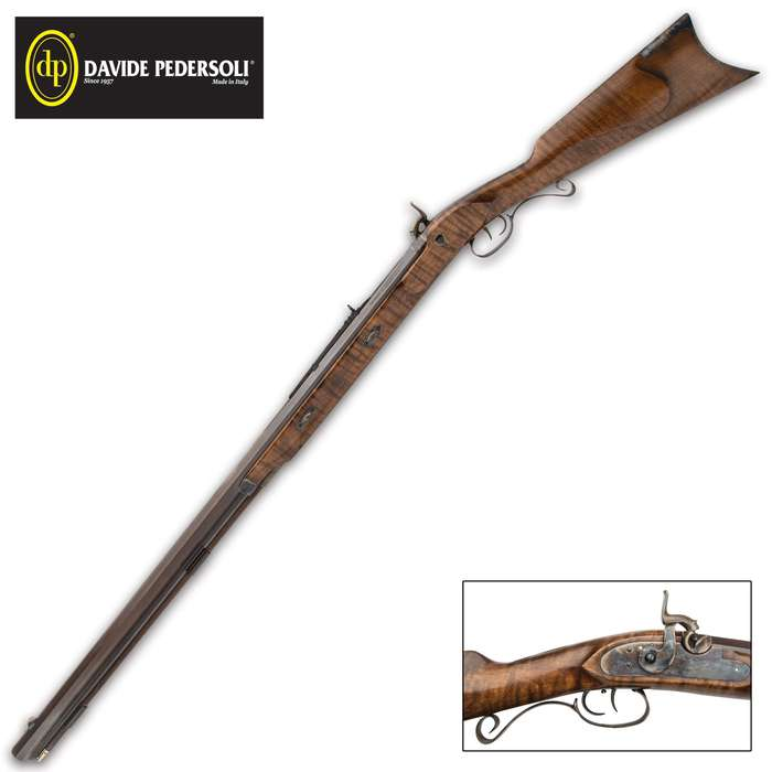 The Pedersoli Rocky Mountain Hawken Rifle is a .54 caliber percussion replica of the plains style rifle made from 1840 to 1865