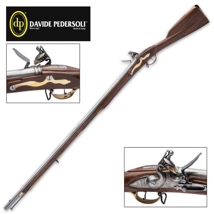 The Pedersoli Brown Bess .75 caliber flintlock musket is great to take out in the field or simply display on your wall