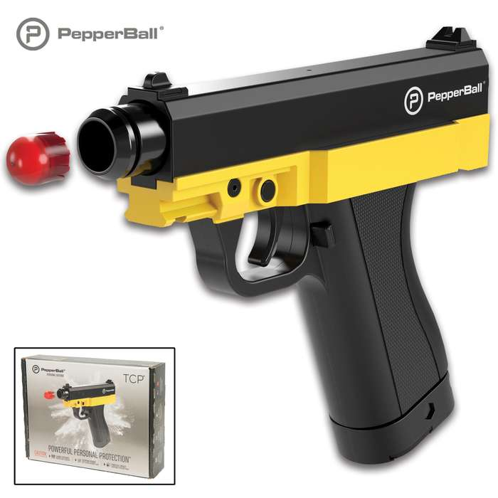 The PepperBall TCP Consumer Kit offers the right solution for a non-lethal approach to your personal protection, giving you both distance and power