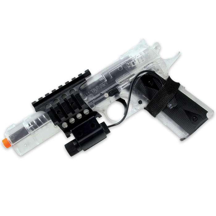 Colt 1911 Spring Airsoft Pistol Clear