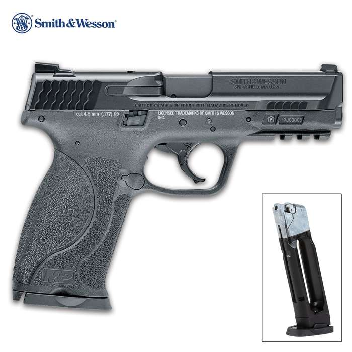 The Smith & Wesson M&P9 M2.0 Air Pistol is the CO2 powered, blowback BB gun you've been waiting for all your life