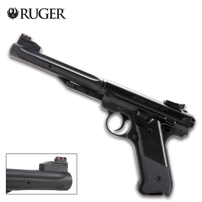The Ruger Mark IV Air Pistol will turn your backyard into a range, providing you with hours of target practice fun