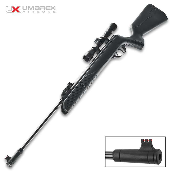 Built as an affordable tack driver, the Umarex Syrix Break Barrel Air Rifle is a worthy small game hunter and backyard plinker
