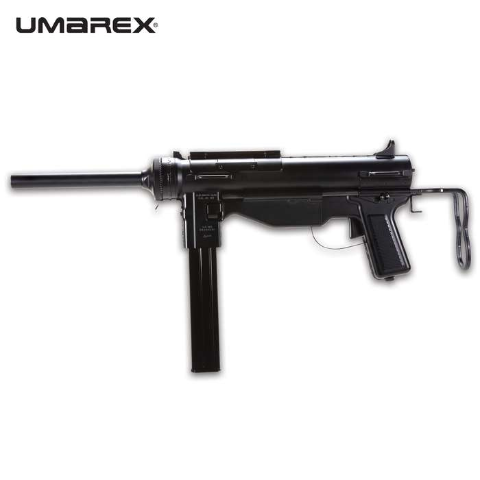 A true US Military replica, the Legends M3 Grease Gun Air Gun is instantly recognizable as the legendary gun