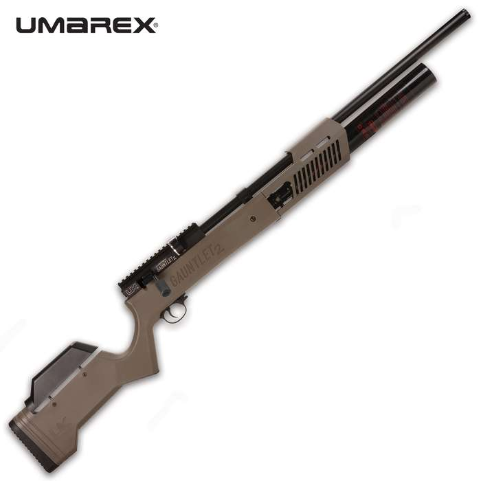 The Umarex Gauntlet 2 Air Rifle gives you more, more, more! More shots. More velocity. More energy on impact