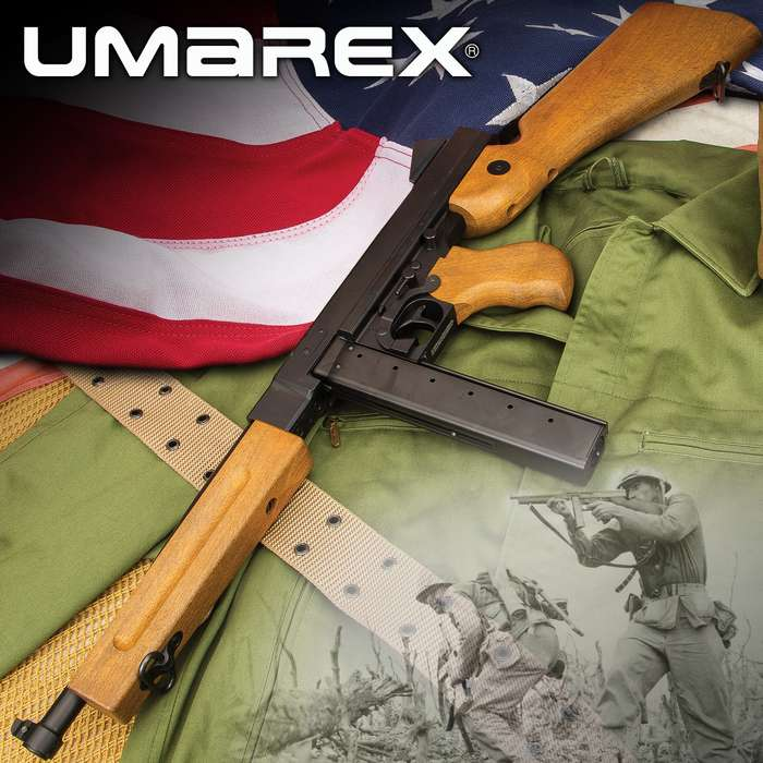 Umarex Legends M1A1 BB Rifle - .177 Caliber, Blowback Action, 30-Round Magazine, Full Metal Frame, 435 FPS - Length 31 3/4""