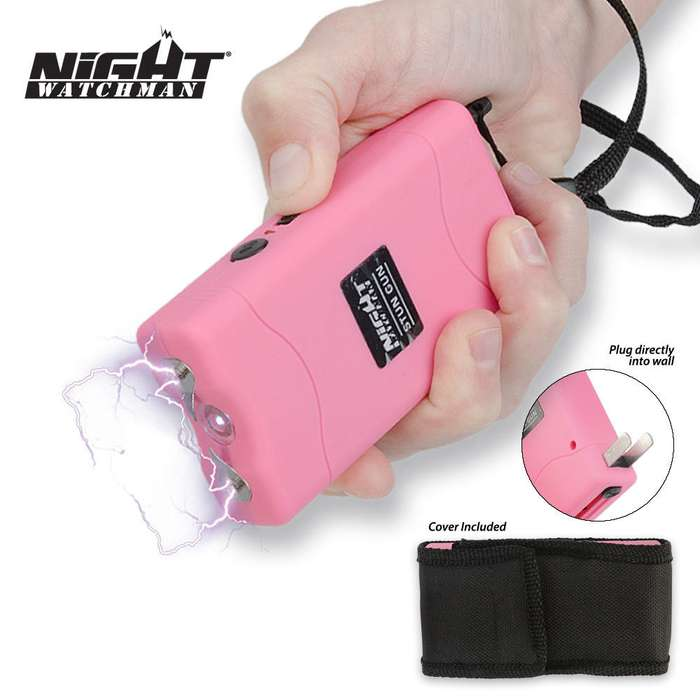 Night Watchman 2 1/2 Million Volt Stun Gun - Pink