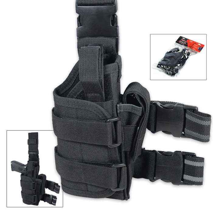 Tactical Special Ops Leg Holster Black