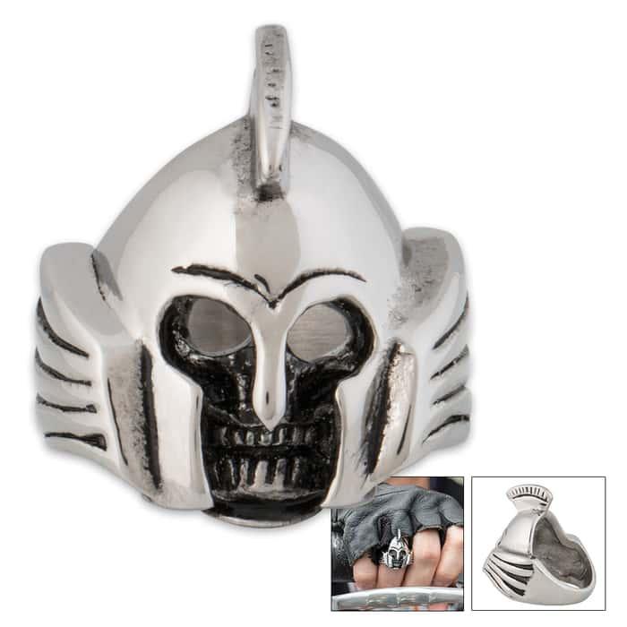 Trojan Head Skull Ring