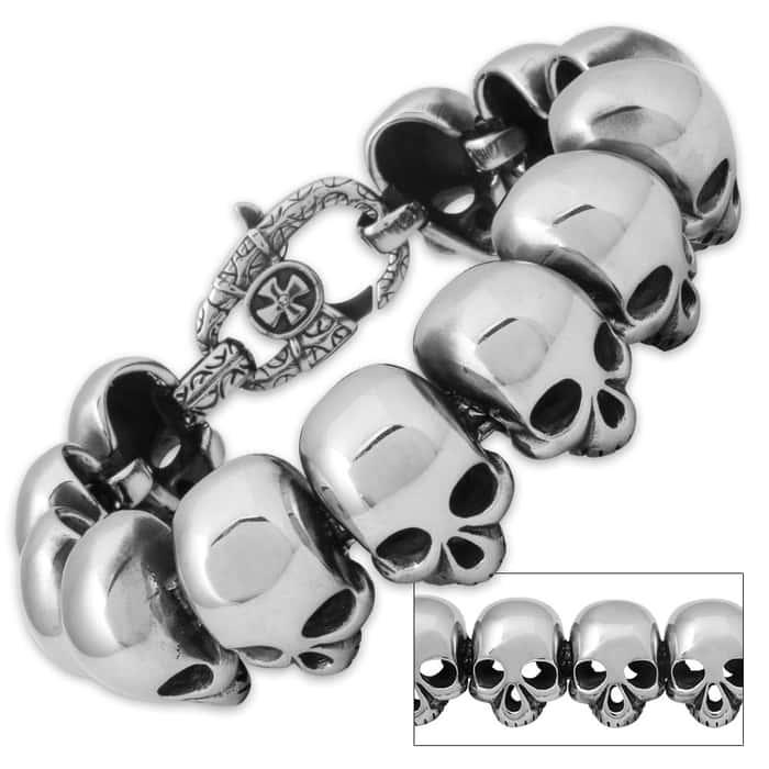 Dead Links Stainless Steel Skull Chain / Bracelet