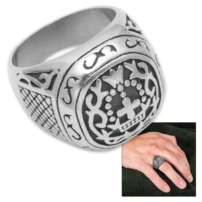 Men's Secret Society Ring - Stainless Steel