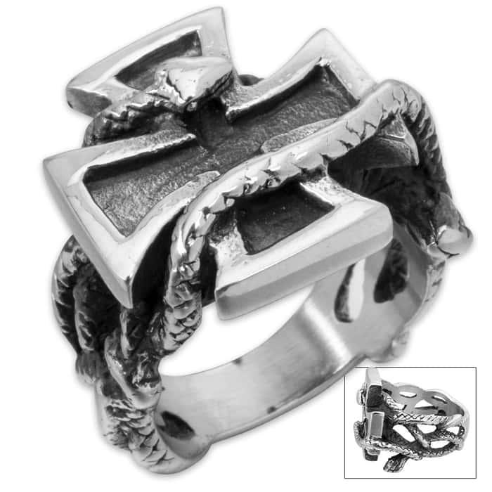 Serpent Chopper Men's Stainless Steel Ring