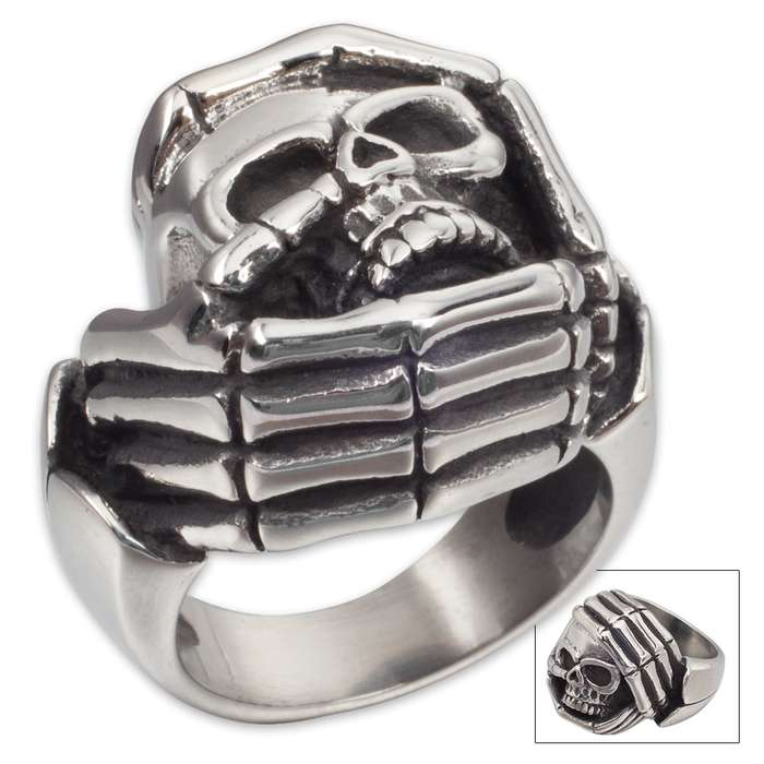 Headache Skull Stainless Steel Ring