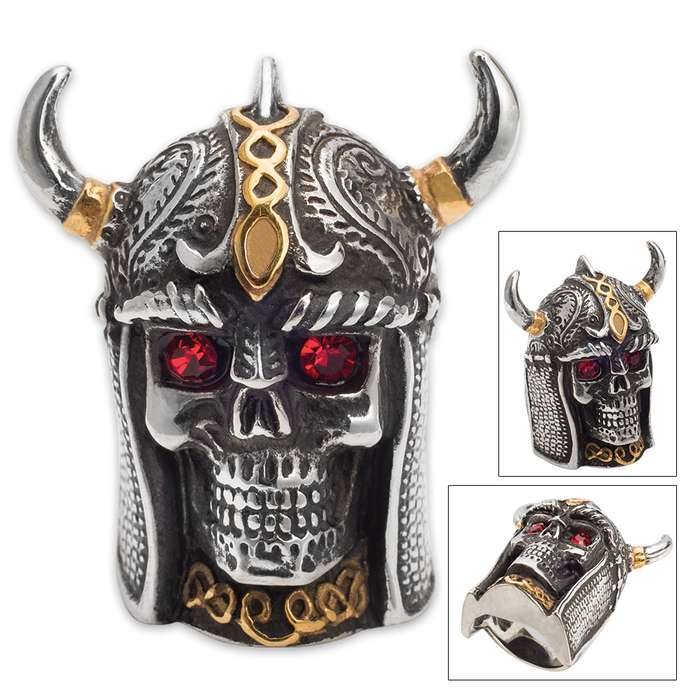 Twisted Roots Red-Eyed Skeleton Knight Ring
