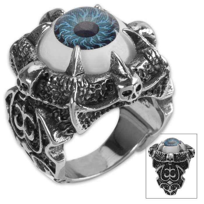 Twisted Roots Oculus Blue Eye Ring