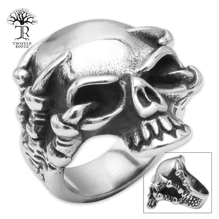 Twisted Roots Beast's Embrace Stainless Steel Men's Ring