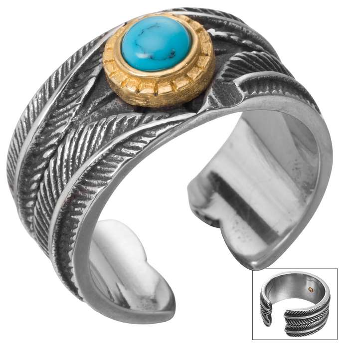 Twisted Roots Turquoise Stone Ring