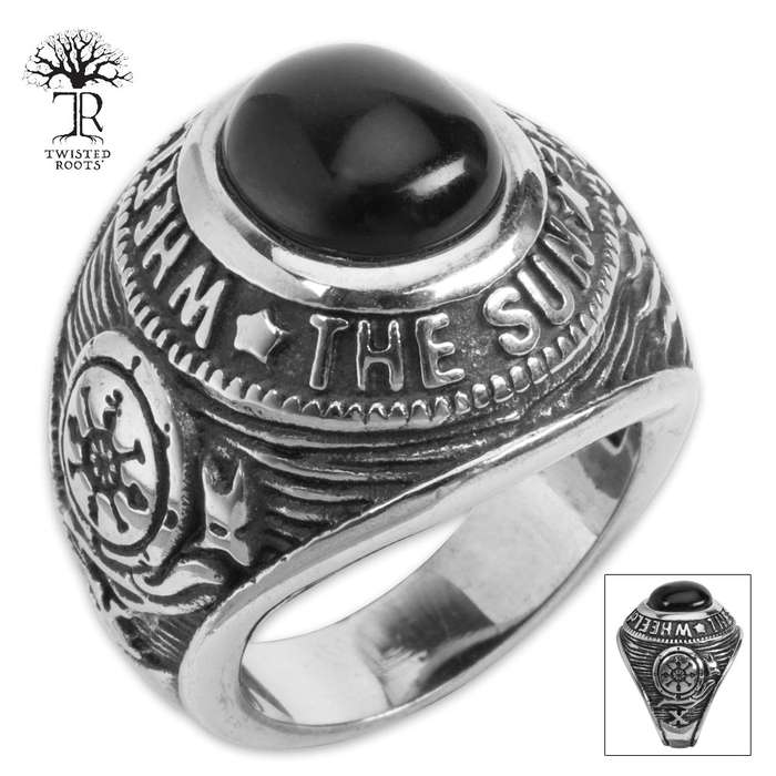 Twisted Roots Wheel Of Fortune Sun Ring