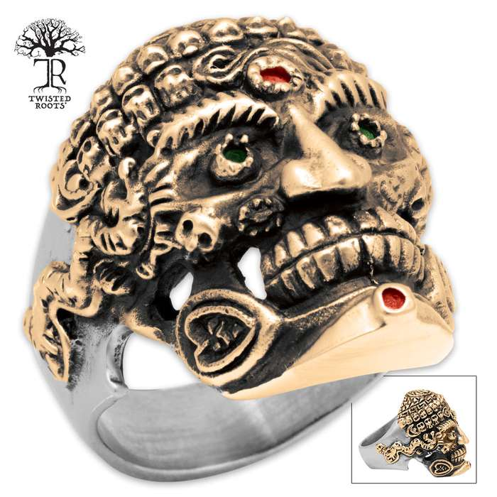 Twisted Roots Egyptian Skeleton Ring