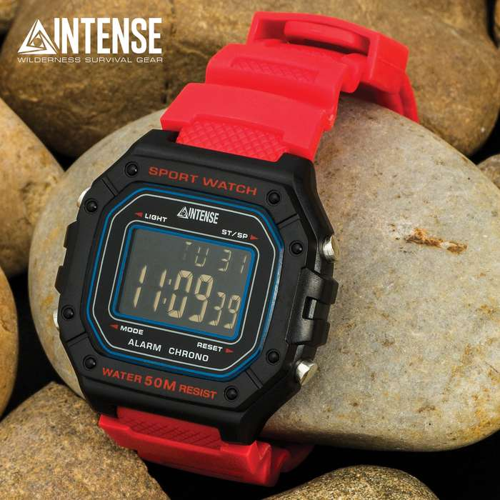 The digital watch is ready to go with you on any of your outdoors adventures including camping, boating and sporting events